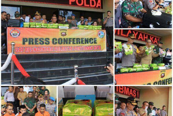 Press Conference pengungkapan 26 Kg Narkoba jenis Shabu di Polda Kalbar