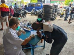 BNN Kota Pontianak melakukan Tes Urine Karyawan PT. Adi Daya Express