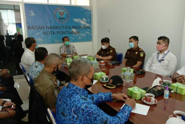 Seksi Rehabilitasi BNN Kota Pontianak Melaksanakan Kegiatan Rapat Koordinasi Tingkat Kab/Kota Dengan Dinas Terkait
